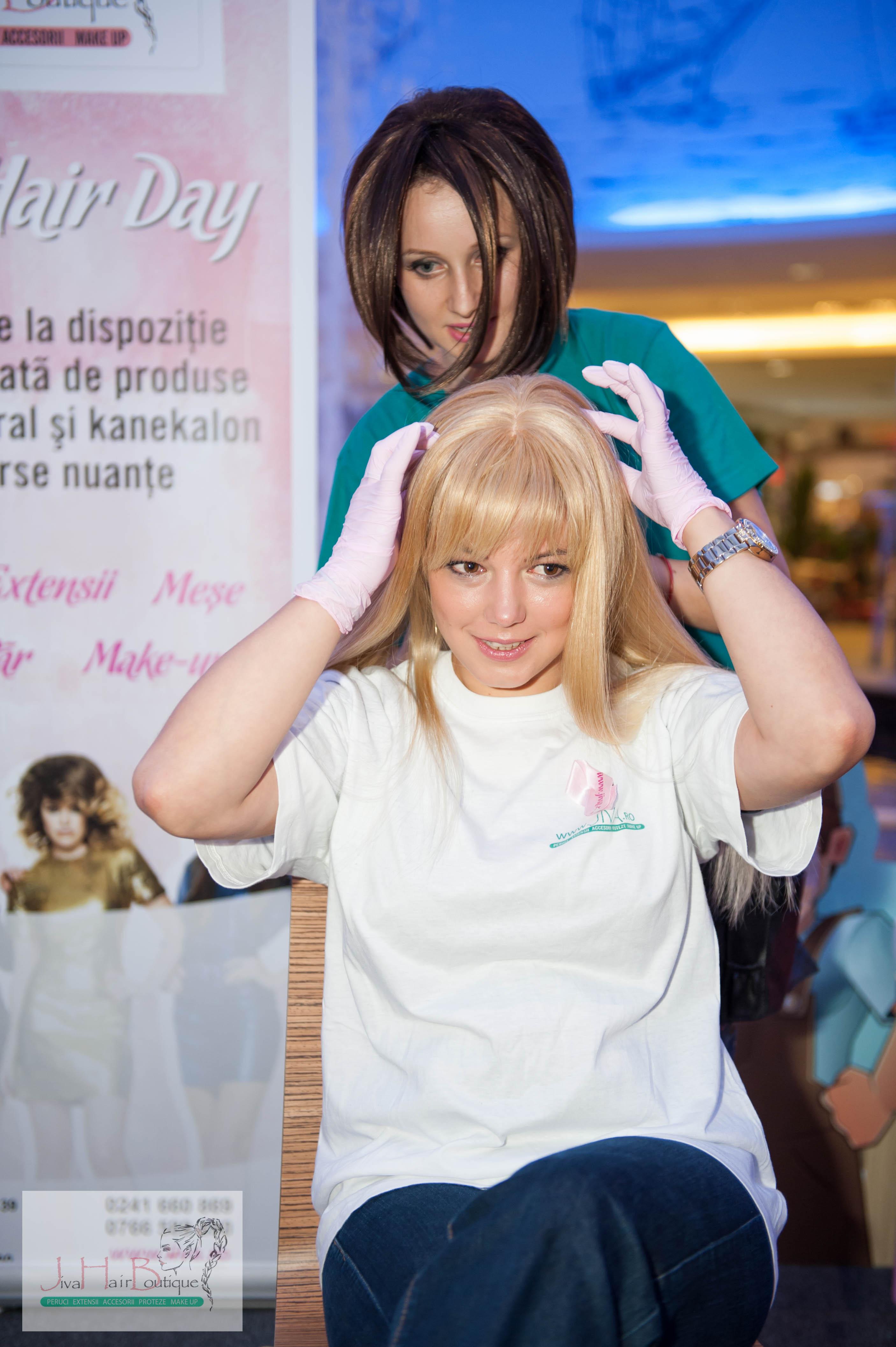 peruca naturala blond platinat
